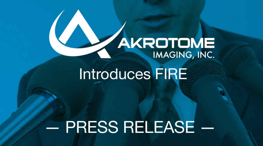 press release by Akrotome Imaging announcing their cancer fighting molecular probes, FIRE
